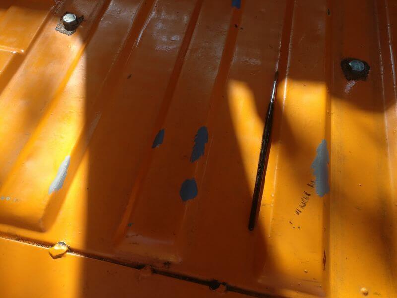 rostige Stellen im Van ausgebessert